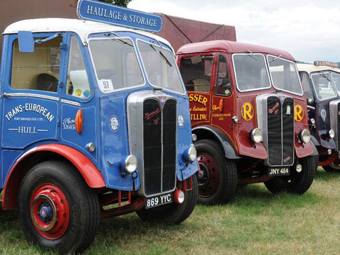 Photo of vintage vehicles at Steam and Vintage Vehicle Rally